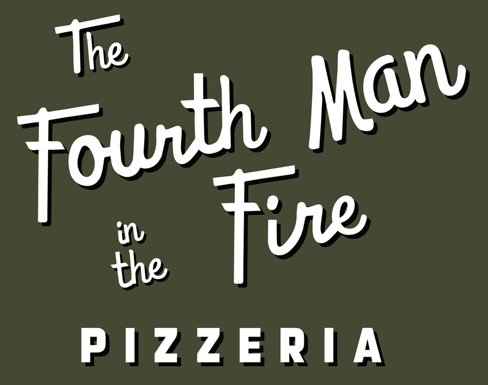 The Fourth Man in the Fire Pizzeria Logo